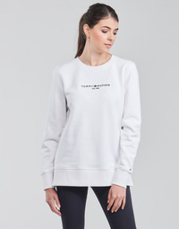Textiel Dames Sweaters / Sweatshirts Tommy Hilfiger TH ESS HILFIGER C-NK SWEATSHIRT Wit