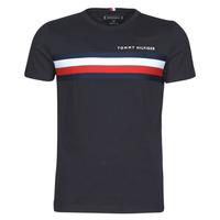 Textiel Heren T-shirts korte mouwen Tommy Hilfiger GLOBAL STRIPE TEE Marine