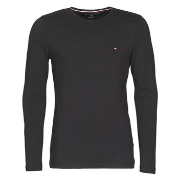 Textiel Heren T-shirts met lange mouwen Tommy Hilfiger STRETCH SLIM FIT LONG SLEEVE TEE Zwart