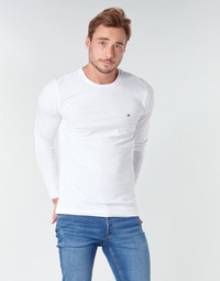 Textiel Heren T-shirts met lange mouwen Tommy Hilfiger STRETCH SLIM FIT LONG SLEEVE TEE Wit