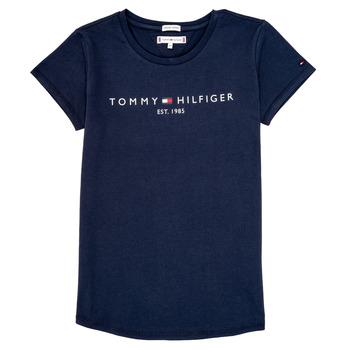Textiel Meisjes T-shirts korte mouwen Tommy Hilfiger KG0KG05242-C87 Marine