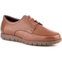 Schoenen Heren Derby Carlo Garelli Shoes Zapatos con cordones de piel de hombre by Carlo Garelli Marron