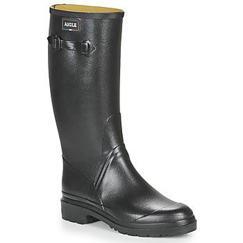 Schoenen Heren Regenlaarzen Aigle CESSAC  zwart