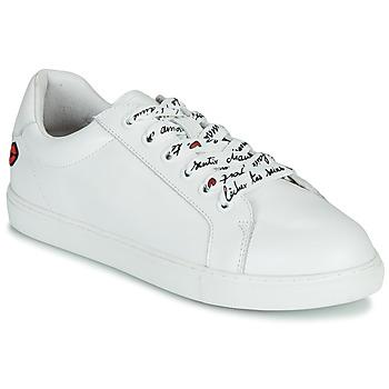 Schoenen Dames Lage sneakers Bons baisers de Paname SIMONE IN LOVE LACETS Wit