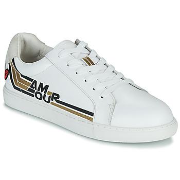 Schoenen Dames Lage sneakers Bons baisers de Paname SIMONE AMOUR RETRO Wit / Goud
