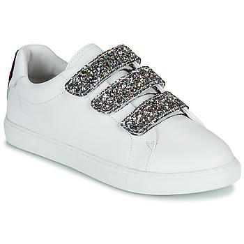 Schoenen Dames Lage sneakers Bons baisers de Paname EDITH GLITTER TONGUE Wit
