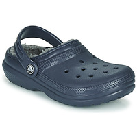 Schoenen Kinderen Klompen Crocs CLASSIC LINED CLOG K Blauw