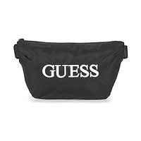 Tassen Heren Heuptassen Guess QUARTO BUM BAG Zwart