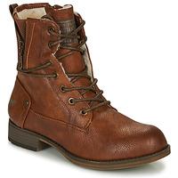 Schoenen Dames Laarzen Mustang  Cognac