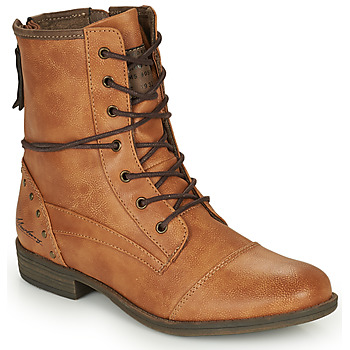 Schoenen Dames Laarzen Mustang 1157508  camel