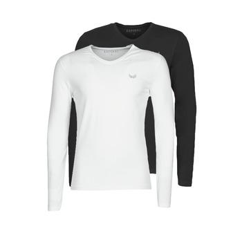 Textiel Heren T-shirts met lange mouwen Kaporal VIFT Zwart-wit