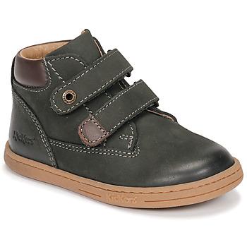 Schoenen Jongens Laarzen Kickers TACKEASY Kaki