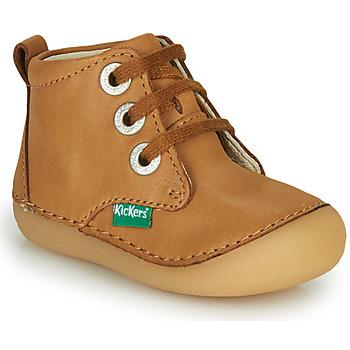 Schoenen Kinderen Laarzen Kickers SONIZA  camel
