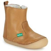 Schoenen Meisjes Laarzen Kickers SOCOOL CHO  camel