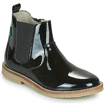Schoenen Meisjes Laarzen Kickers TYPIK Zwart / Verni