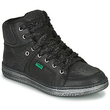 Schoenen Meisjes Hoge sneakers Kickers LOWELL Zwart
