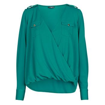 Textiel Dames Tops / Blousjes Marciano SALLY CREPE TOP Groen