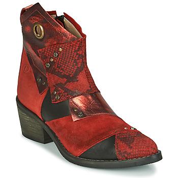 Schoenen Dames Enkellaarzen Casta DEMA Rood