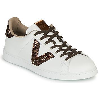 Schoenen Dames Lage sneakers Victoria TENIS PIEL VEG Wit / Brown