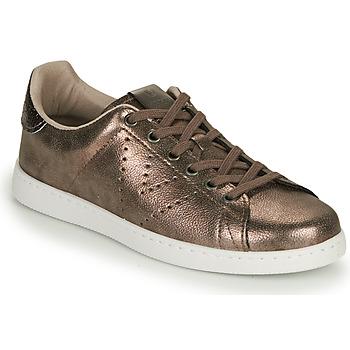 Schoenen Dames Lage sneakers Victoria TENIS METALIZADO Goud