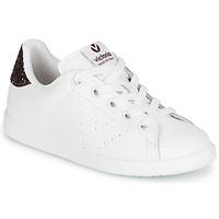 Schoenen Meisjes Lage sneakers Victoria TENIS PIEL Wit / Bordeaux