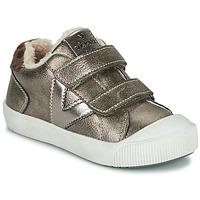 Schoenen Meisjes Lage sneakers Victoria HUELLAS  TIRAS Zilver