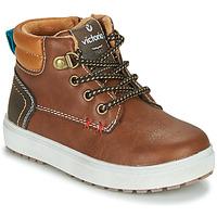 Schoenen Jongens Lage sneakers Victoria PUZZLE  PIEL Brown