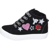 Schoenen Meisjes Hoge sneakers Fiorucci sneakers camoscio sintetico Nero