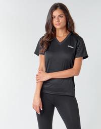Textiel Dames T-shirts korte mouwen adidas Performance W D2M SOLID T Zwart