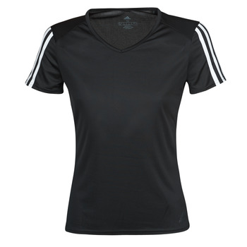Textiel Dames T-shirts korte mouwen adidas Performance RUN IT TEE 3S W Zwart