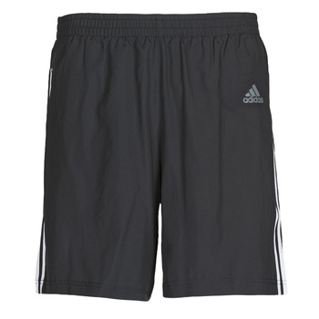 Textiel Heren Korte broeken / Bermuda's adidas Performance RUN IT SHORT 3S Zwart