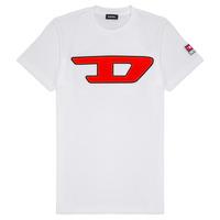 Textiel Kinderen T-shirts korte mouwen Diesel TJUSTDIVISION Wit