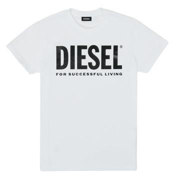 Textiel Kinderen T-shirts korte mouwen Diesel TJUSTLOGO Wit