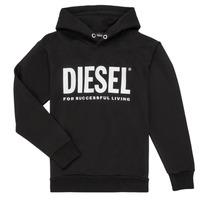 Textiel Jongens Sweaters / Sweatshirts Diesel SDIVISION LOGO Zwart