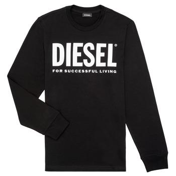 Textiel Jongens T-shirts met lange mouwen Diesel TJUSTLOGO ML Zwart