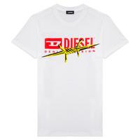 Textiel Jongens T-shirts korte mouwen Diesel TDIEGOBX2 Wit