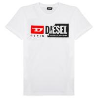 Textiel Kinderen T-shirts korte mouwen Diesel TDIEGOCUTY Wit