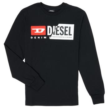 Textiel Kinderen T-shirts met lange mouwen Diesel TDIEGOCUTY Zwart