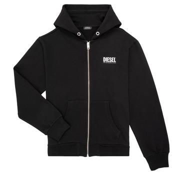 Textiel Jongens Sweaters / Sweatshirts Diesel SGIRKHOODZIP LOGO Zwart