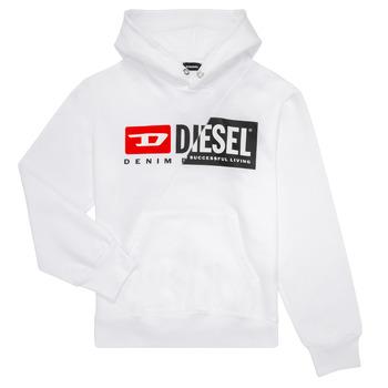 Textiel Kinderen Sweaters / Sweatshirts Diesel SGIRKHOODCUTY Wit