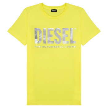 Textiel Meisjes T-shirts korte mouwen Diesel TSILYWX Geel