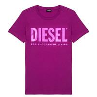 Textiel Meisjes T-shirts korte mouwen Diesel TSILYWX Roze