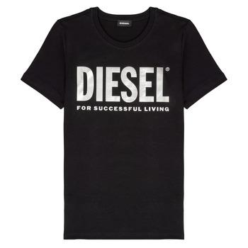 Textiel Meisjes T-shirts korte mouwen Diesel TSILYWX Zwart