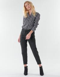 Textiel Dames 5 zakken broeken Freeman T.Porter CELINE SILIANO Zwart