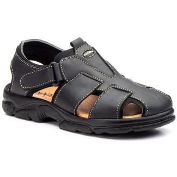 Schoenen Heren Sandalen / Open schoenen Morxiva Shoes Sandalias de hombre de piel by Morxiva Noir