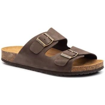 Schoenen Heren Leren slippers Morxiva Shoes Sandalias Bio de hombre de piel by Morxiva Marron