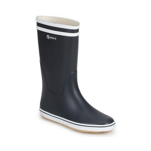Schoenen Dames Regenlaarzen Aigle MALOUINE Marine / Wit
