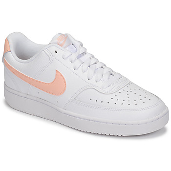 Schoenen Dames Lage sneakers Nike COURT VISION LOW Wit / Roze