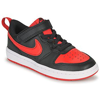 Schoenen Kinderen Lage sneakers Nike COURT BOROUGH LOW 2 PS Zwart / Rood