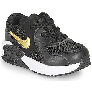 Schoenen Kinderen Lage sneakers Nike AIR MAX EXCEE TD Zwart / Goud